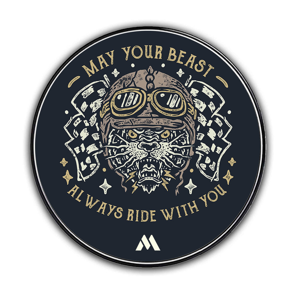 May Your Beast Ride With You Designer Wireless Charger Pro
