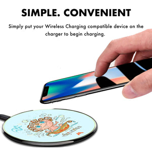 Fun Star Sign Aquarius Designer Wireless Charger Pro