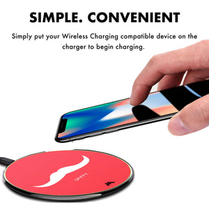 Spiffy Moustache Designer Wireless Charger Pro