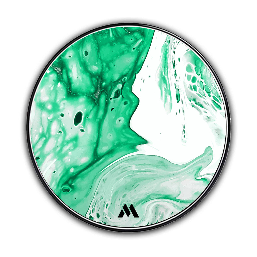 Green Ivory Marble Designer Wireless Charger Pro