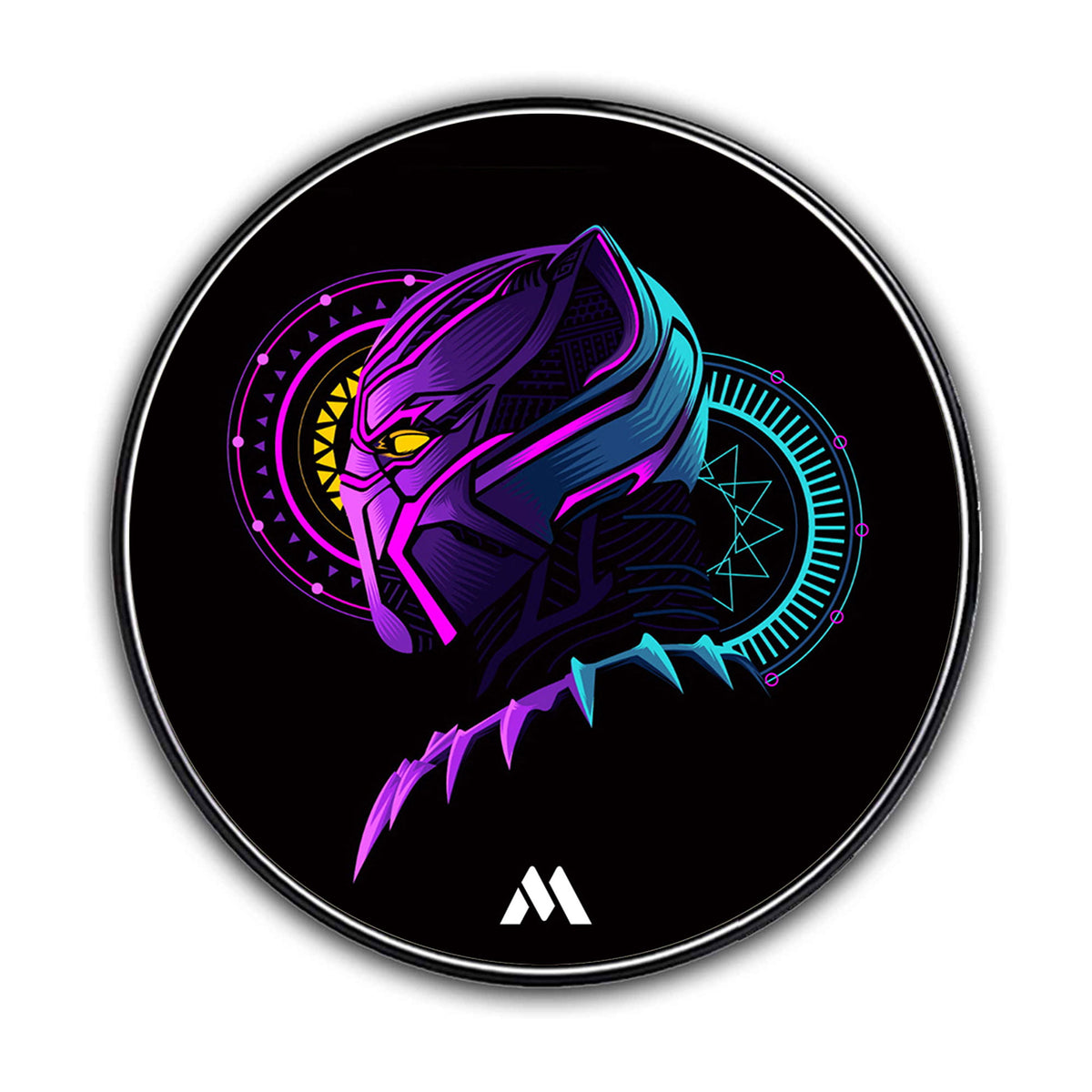 Black Panther Fluroflare Designer Wireless Charger Pro
