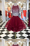 2020 Scoop Homecoming Dresses Two-Piece Beaded PBRJ6XHE