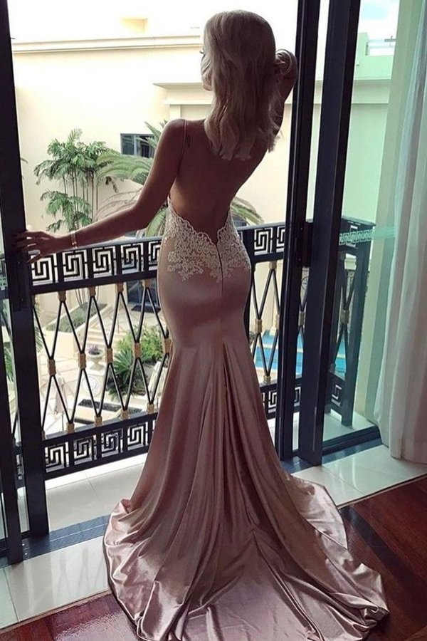 2020 Spaghetti Straps Evening Dresses Mermaid With PT8HD58B