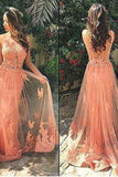 Lace Prom Dresses Long Prom Dress Dresses For Prom Coral Prom Dress Charming Party Dress