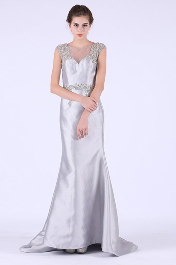 2020 Scoop Mermaid With Applique Prom Dresses PT2YJCQH