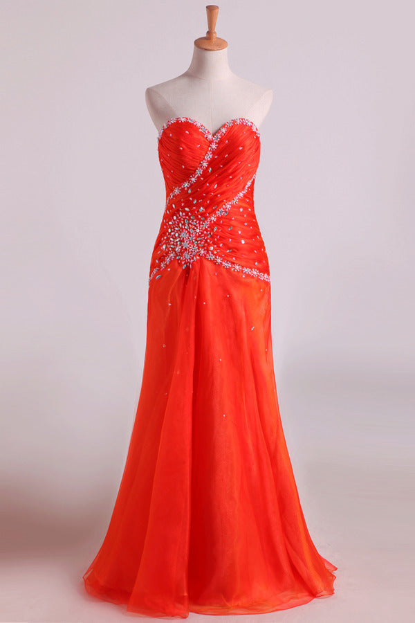 2020 Sweetheart A Line Chiffon Evening Dresses PKG863YR