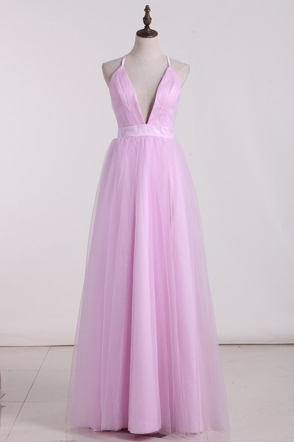 2020 Tulle Bridesmaid Dresses Spaghetti Straps With PFB3CPDH