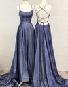Sparkly A Line Hot Selling Spaghetti Straps Prom Dresses, Long Evening STH20471