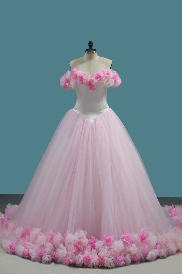 2020 Tulle Ball Gown Off The Shoulder Quinceanera Dresses PY26PJA8