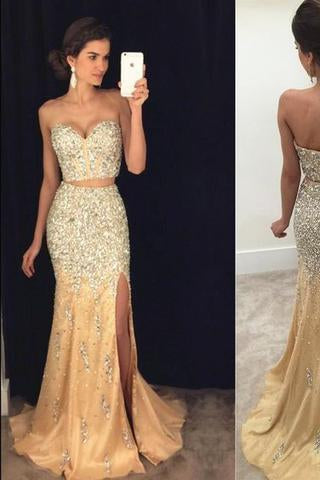 Sexy Prom Dress Mermaid Evening Dress Split Side Prom Dress Long Prom Dresses