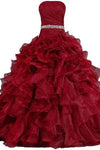 Pretty Ball Gown Quinceanera Dress Ruffle Prom Dresses