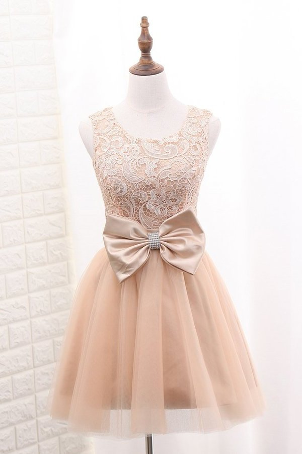 2020 Tulle & Lace Homecoming Dresses Scoop A PYNDYAHN