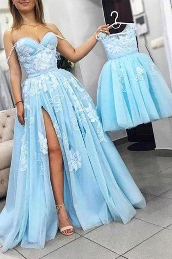 2020 Sweetheart A-Line Prom Dress Floor Length P36K8SJF