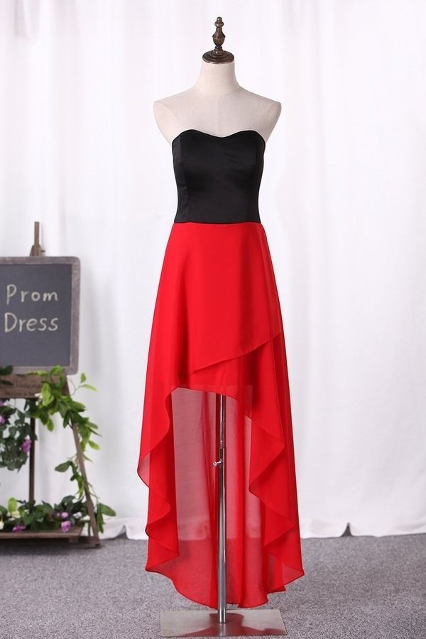 2020 Simple Style Prom Dresses Sweetheart With High-Low Chiffon PZ5D1FTF