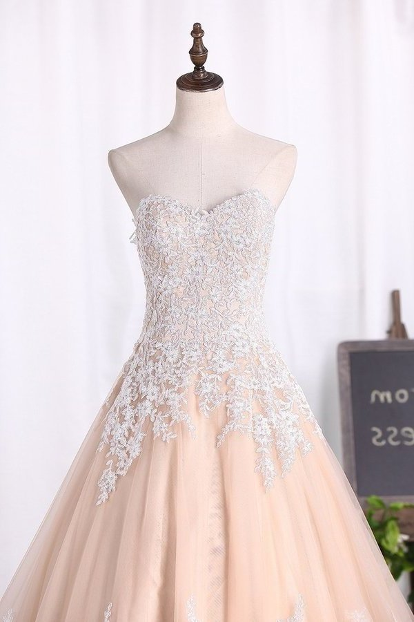 2020 Sweetheart A Line Wedding PRHT2J2S