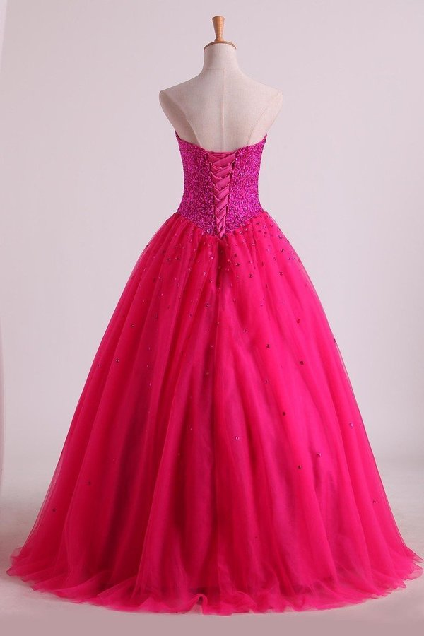 2020 Sweetheart Quinceanera Dresses Floor-Length Tulle Ball Gown P3RMQLY6