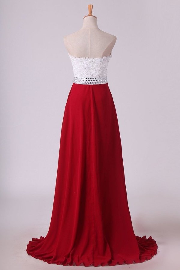Chiffon With Applique And Beads Prom Dresses Sweetheart A P6YZQZM1