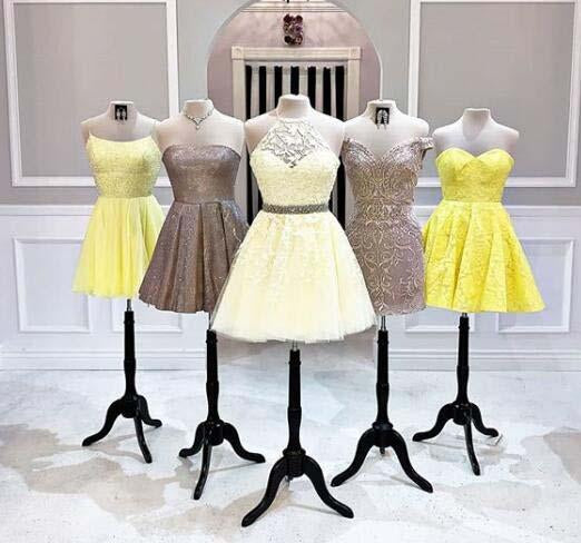 New Style Halter A line Homecoming Dresses Above Knee Short Prom Dresses