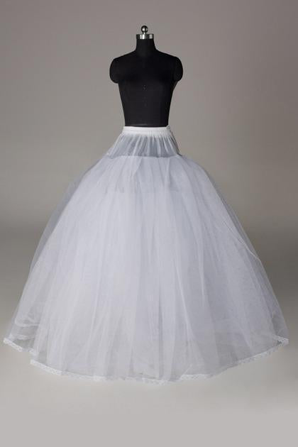 Women Tulle Netting/Polyester Floor Length 3 Tiers Petticoats