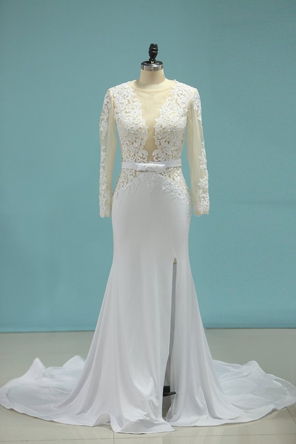 2020 Scoop Wedding Dresses Mermaid P9644R1Q