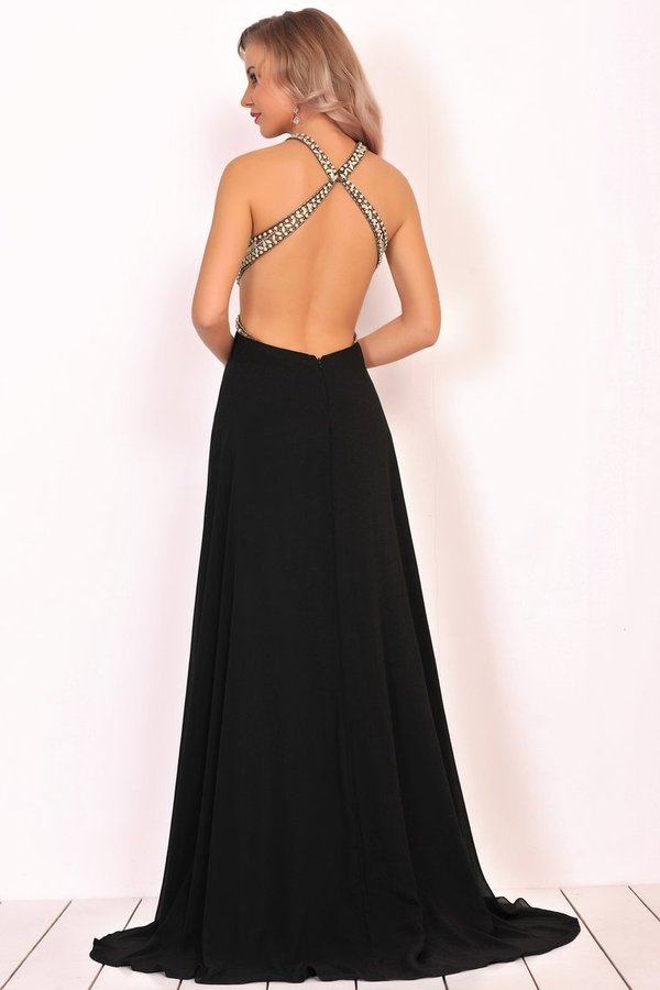 2020 Scoop Prom Dresses A Line Open Back P95QMEP2