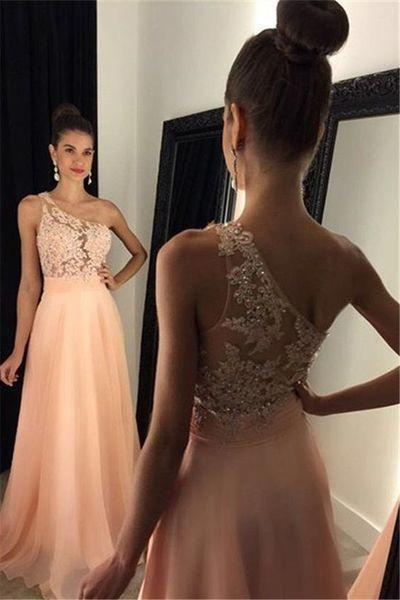 One Shoulder Prom Dress Long Wedding Party Gown Cocktail Formal Wear