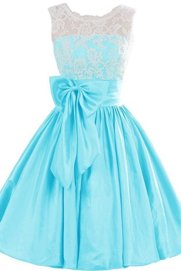 2020 Scoop With Applique And Bow Knot Taffeta A P9YH24G7