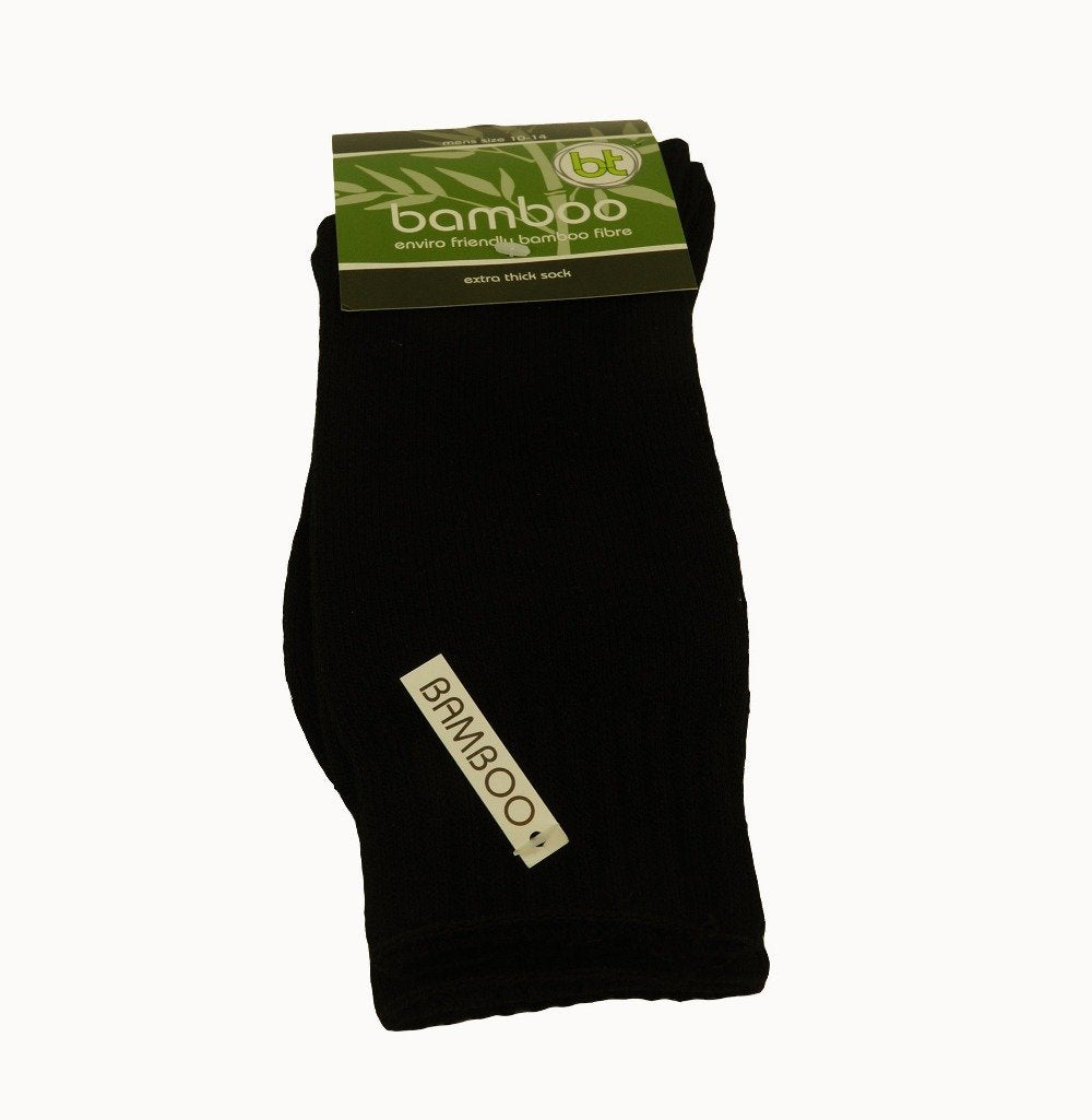 Bamboo Extra Thick Sock Black