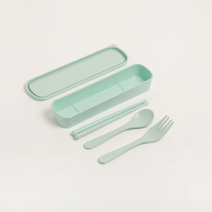 ECO-FRIENDLY BAMBOO FIBRE CUTLERY SET with chopsticks