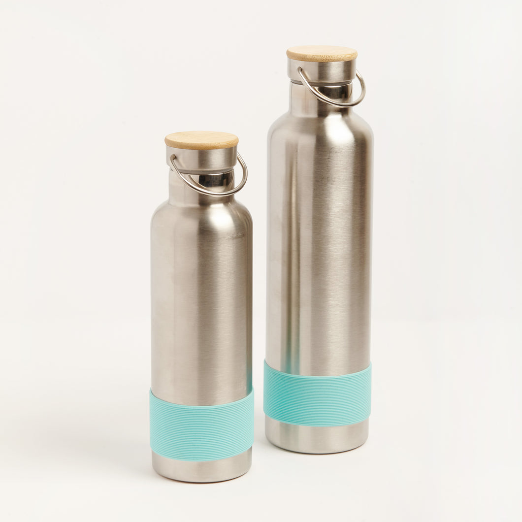 PLASTIC FREE STAINLESS STEEL DRINK BOTTLES - TURQUOISE