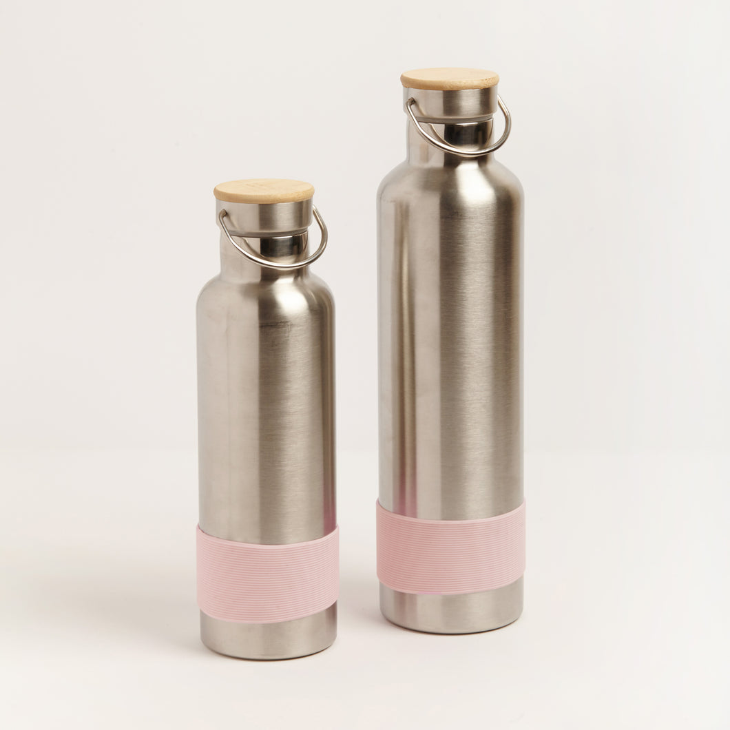 PLASTIC FREE STAINLESS STEEL DRINK BOTTLES - PINK