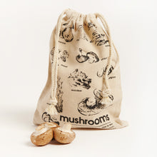 Load image into Gallery viewer, LINEN MUSHROOM BAG