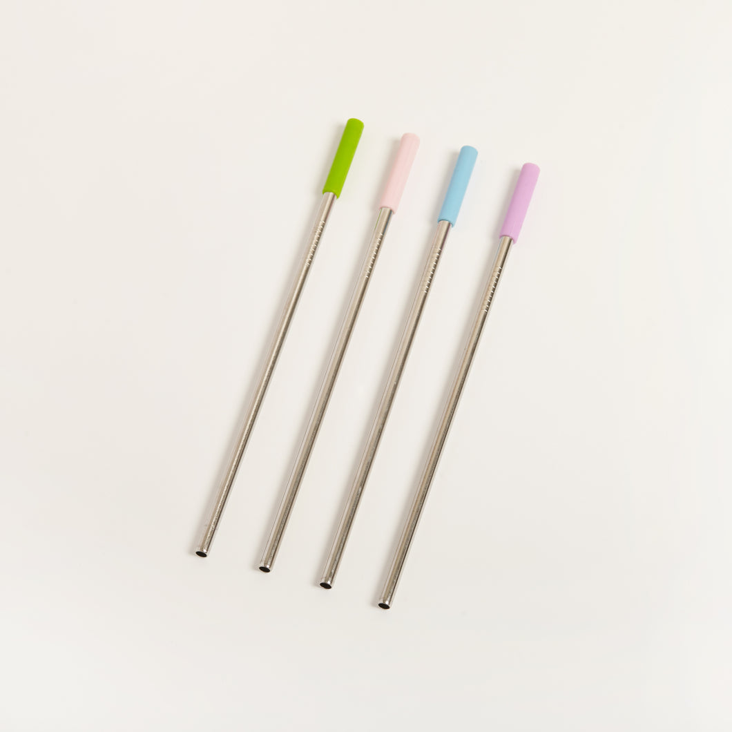 REGULAR STAINLESS STEEL STRAW WITH STOPPER
