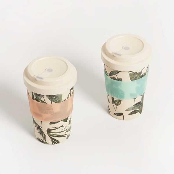 REUSABLE MONSTERA BIO COFFEE CUP