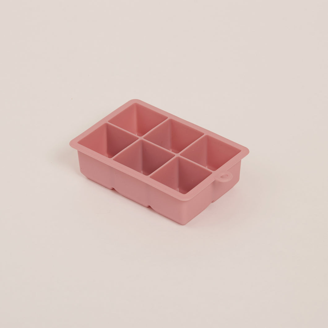 SILICONE ICE CUBE TRAYS - 6 LARGE BLOCKS