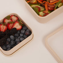 Load image into Gallery viewer, SQUARE BIODEGRADABLE BAMBOO FIBRE BENTO LUNCH BOX
