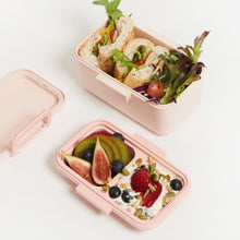 Load image into Gallery viewer, DOUBLE LAYER BIODEGRADABLE BAMBOO BENTO LUNCH BOX/STORAGE CONTAINER   Finally an eco-friendly lunchbox that also doubles as super cute food storage.  And we've added an additional layer for your favourite sauces and snacks!