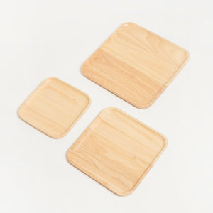 SUSTAINABLY SOURCED HAND CARVED WOODEN BOARDS - SQUARE