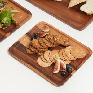 SUSTAINABLY SOURCED HAND CARVED WOODEN BOARDS - RECTANGLE