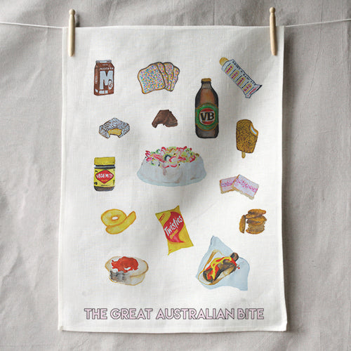 GREAT AUSTRALIAN BITE TEA TOWEL