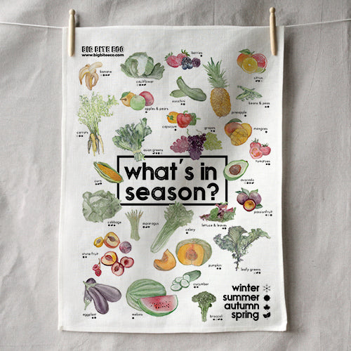 WHAT'S IN SEASON TEA TOWEL