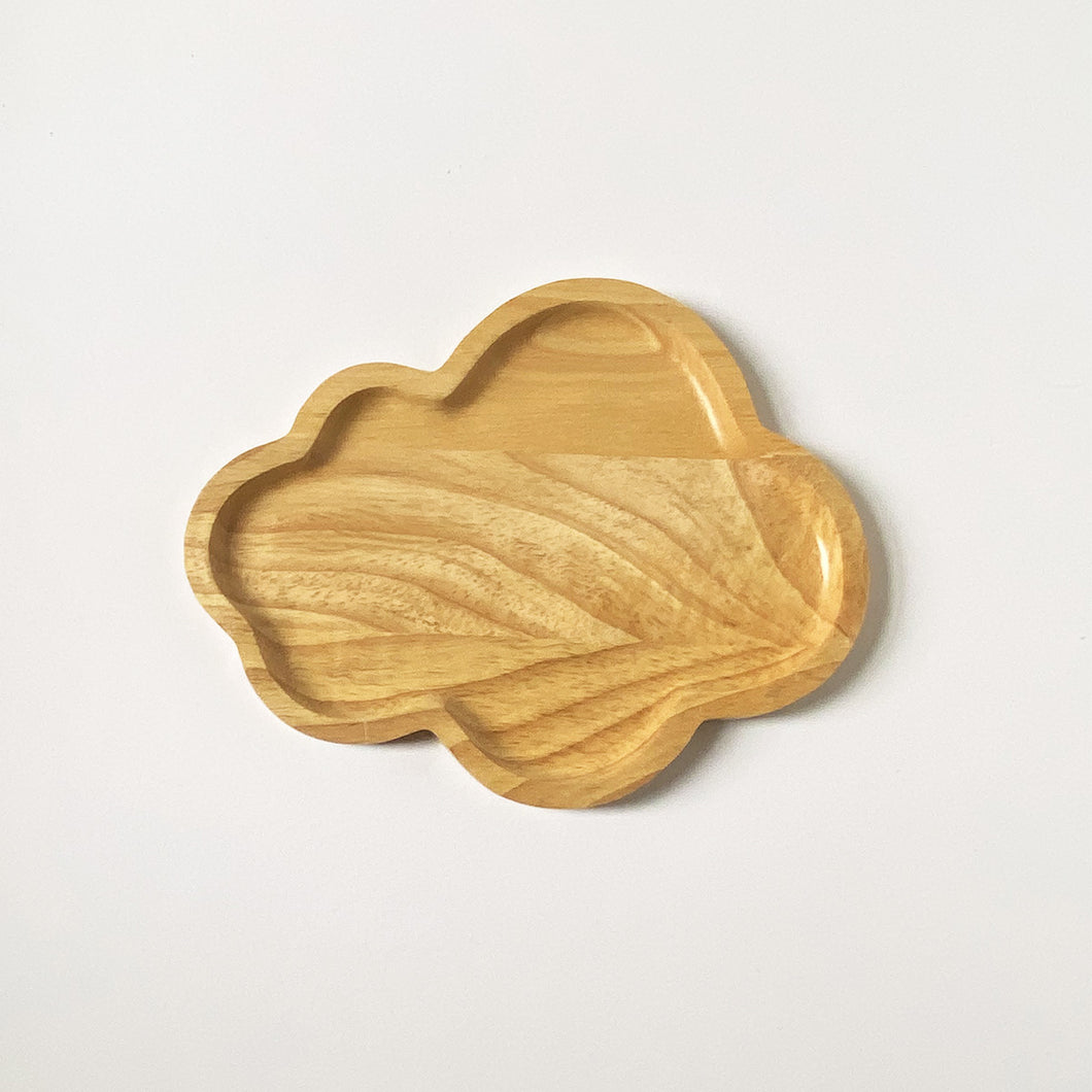 SUSTAINABLY SOURCED HAND CARVED CLOUD PLATE