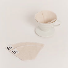 将图片加载到图库查看器,PLASTIC FREE REUSABLE COFFEE FILTER -  100% LINEN (SIZE 2 OR 4)