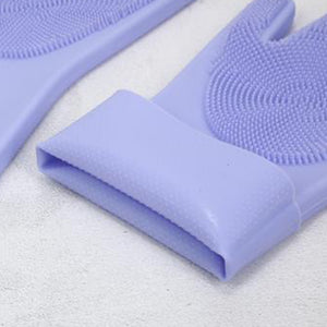 SUSTAINABLE SILICONE REUSABLE SCRUBBING GLOVES