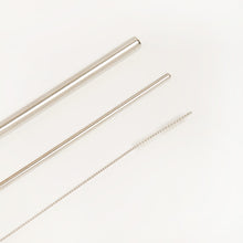 이미지를 갤러리 뷰어에 로드 , PLASTIC FREE STAINLESS STEEL STRAW SET WITH BUBBLE TEA/SMOOTHIE STRAW - 3 PIECE