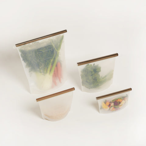 REUSABLE ZIPLOCK BAG SET OF ALL 4 - PREORDER ONLY (ETA JUNE)