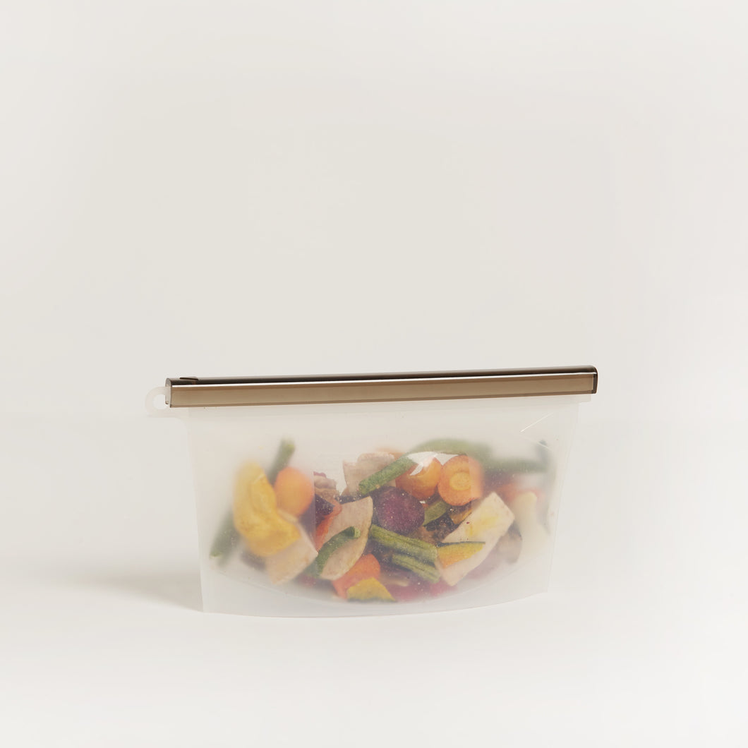 SUSTAINABLE SMALL REUSABLE ZIPLOCK BAG (500ML)