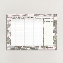 Load image into Gallery viewer, MONSTERA MAGNETIC MONTHLY/MEAL PLANNER SET WITH SHOPPING LIST