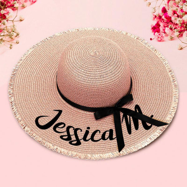 Custom Embroidery Floppy Beach Hat - Threaded Edges