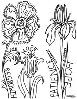 Encouragement Regrowth Coloring Page